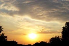 Ηλιοβασίλεμα ενός ήλιου Στοκ Εικόνες