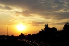 Ηλιοβασίλεμα ενός ήλιου Στοκ Εικόνα