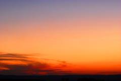 ηλιοβασίλεμα ερήμων Στοκ φωτογραφία με δικαίωμα ελεύθερης χρήσης