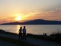 ηλιοβασίλεμα εραστών Στοκ φωτογραφία με δικαίωμα ελεύθερης χρήσης