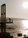 ηλιοβασίλεμα εραστών Στοκ εικόνες με δικαίωμα ελεύθερης χρήσης