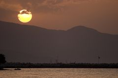 ηλιοβασίλεμα Ζάκυνθος Στοκ Εικόνα