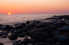 ηλιοβασίλεμα θάλασσας Στοκ Φωτογραφία