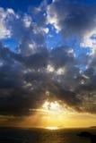 ηλιοβασίλεμα θάλασσας Στοκ φωτογραφίες με δικαίωμα ελεύθερης χρήσης