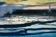 ηλιοβασίλεμα θερμικό Στοκ Εικόνα