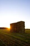 ηλιοβασίλεμα θυμωνιών χό&rh Στοκ Εικόνες