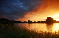 ηλιοβασίλεμα καθαρίσμα Στοκ φωτογραφία με δικαίωμα ελεύθερης χρήσης