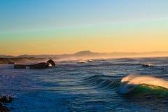 Ηλιοβασίλεμα και χρώμα στοκ εικόνες