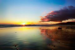 ηλιοβασίλεμα Καλιφόρνι&al Στοκ Εικόνες