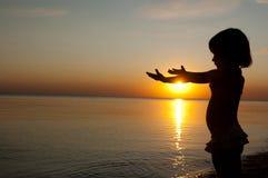 ηλιοβασίλεμα κατσικιών & Στοκ εικόνες με δικαίωμα ελεύθερης χρήσης