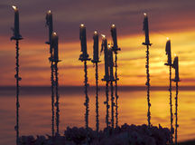 ηλιοβασίλεμα κεριών Στοκ Εικόνα