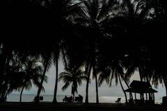 Ηλιοβασίλεμα κοντά στην παραλία στη Μαλαισία Στοκ εικόνες με δικαίωμα ελεύθερης χρήσης