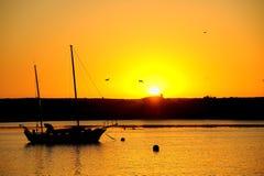Ηλιοβασίλεμα, κόλπος morro Στοκ εικόνες με δικαίωμα ελεύθερης χρήσης