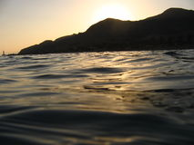 ηλιοβασίλεμα κόλπων Στοκ φωτογραφίες με δικαίωμα ελεύθερης χρήσης