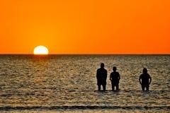 ηλιοβασίλεμα κόλπων Στοκ Εικόνες
