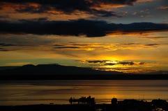ηλιοβασίλεμα λιμένων στοκ φωτογραφίες