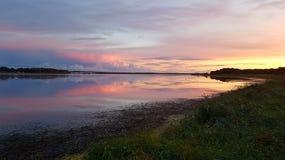 Ηλιοβασίλεμα μετά από τη βροχή Στοκ εικόνες με δικαίωμα ελεύθερης χρήσης