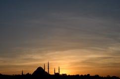 ηλιοβασίλεμα μουσου&lamb Στοκ Φωτογραφία