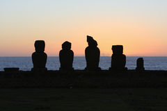 ηλιοβασίλεμα νησιών Πάσχα στοκ εικόνες