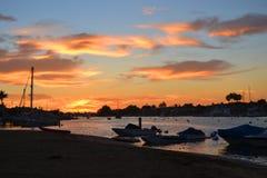 Ηλιοβασίλεμα νησιών BALBOA Στοκ Εικόνες