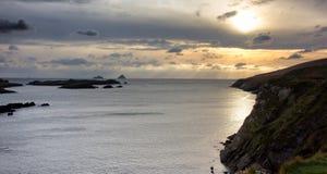 Ηλιοβασίλεμα νησιών Skellig στοκ φωτογραφία με δικαίωμα ελεύθερης χρήσης