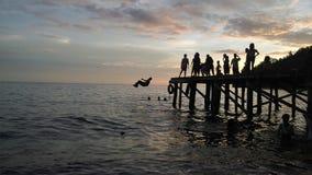 Ηλιοβασίλεμα ομορφιάς σε Mariadei Tak Terlupakan στοκ εικόνες