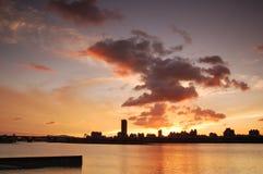 ηλιοβασίλεμα ομορφιάς Στοκ Εικόνα