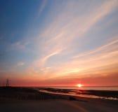 ηλιοβασίλεμα ομορφιάς Στοκ Φωτογραφίες
