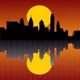 ηλιοβασίλεμα οριζόντων της Φιλαδέλφειας Στοκ φωτογραφία με δικαίωμα ελεύθερης χρήσης