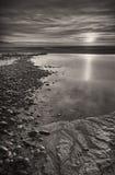 ηλιοβασίλεμα ουαλλικά παραλιών Στοκ φωτογραφία με δικαίωμα ελεύθερης χρήσης