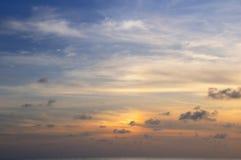 ηλιοβασίλεμα ουρανού α Στοκ εικόνα με δικαίωμα ελεύθερης χρήσης