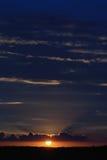 ηλιοβασίλεμα ουρανού β& Στοκ εικόνα με δικαίωμα ελεύθερης χρήσης
