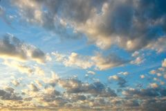 ηλιοβασίλεμα ουρανού σ Στοκ φωτογραφία με δικαίωμα ελεύθερης χρήσης