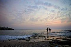 ηλιοβασίλεμα ουρανού τ&e Στοκ Εικόνες