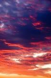 ηλιοβασίλεμα ουρανού Στοκ Φωτογραφίες