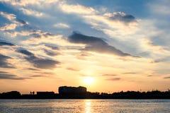 ηλιοβασίλεμα ουρανού &sigma Στοκ Εικόνες