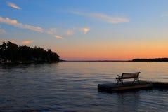 ηλιοβασίλεμα πάγκων Στοκ εικόνα με δικαίωμα ελεύθερης χρήσης