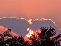 Ηλιοβασίλεμα 2015 πάρκων Darlington Στοκ εικόνα με δικαίωμα ελεύθερης χρήσης