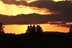 Ηλιοβασίλεμα πέρα από το Αλμπικέρκη Στοκ Εικόνα