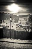 Ηλιοβασίλεμα πέρα από Kazimierz Dolny Στοκ εικόνα με δικαίωμα ελεύθερης χρήσης
