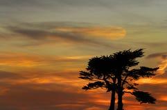 Ηλιοβασίλεμα πέρα από Santa Cruz στοκ φωτογραφίες με δικαίωμα ελεύθερης χρήσης