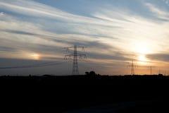 Ηλιοβασίλεμα πέρα από Zeeland Στοκ φωτογραφίες με δικαίωμα ελεύθερης χρήσης