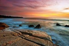 ηλιοβασίλεμα παραλιών τροπικό Στοκ Εικόνες
