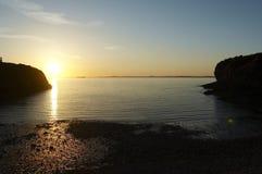 ηλιοβασίλεμα παραλιών στοκ φωτογραφία