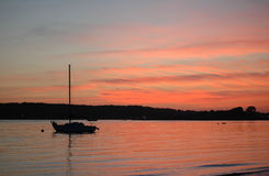 ηλιοβασίλεμα παραλιών niles Στοκ εικόνα με δικαίωμα ελεύθερης χρήσης