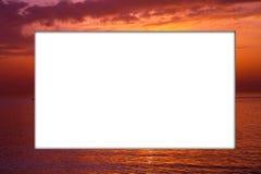 ηλιοβασίλεμα πλαισίων Στοκ Εικόνες