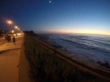 Ηλιοβασίλεμα Πορτογαλία παραλιών στοκ εικόνες