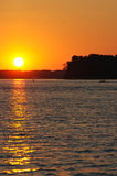 ηλιοβασίλεμα ποταμιών Μι& Στοκ Φωτογραφία