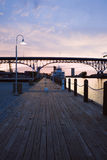 ηλιοβασίλεμα ποταμών Στοκ εικόνα με δικαίωμα ελεύθερης χρήσης