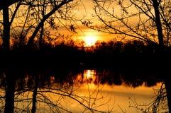 Ηλιοβασίλεμα 1 ποταμών Boise στοκ εικόνα με δικαίωμα ελεύθερης χρήσης